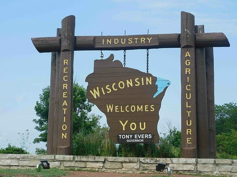 Welcome sign in Wisconsin