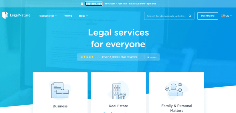 Legal Nature offers