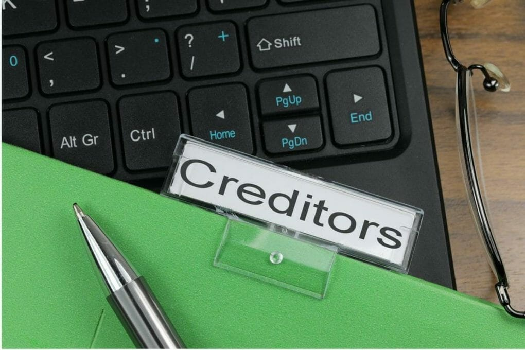 Creditors labeled files