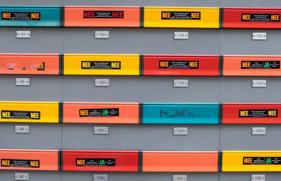 colorful mailbox
