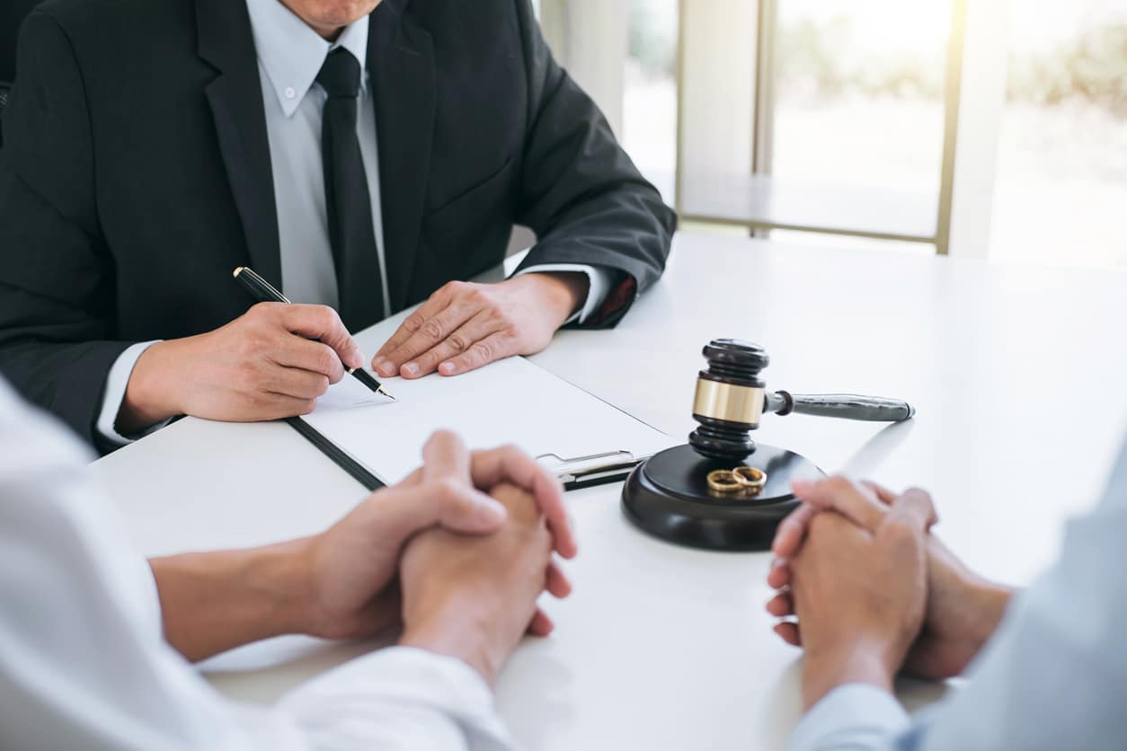attorney with two clients