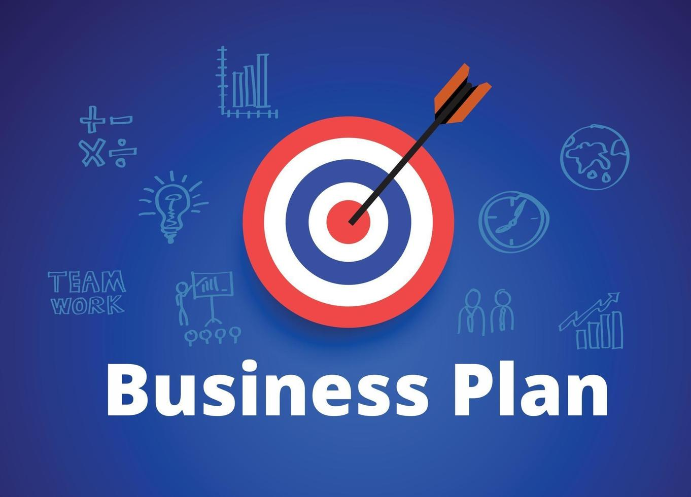 Business plan with a target