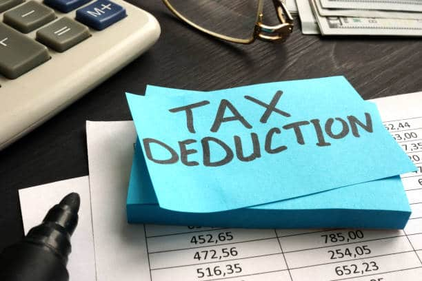 Tax Deductions sticky note
